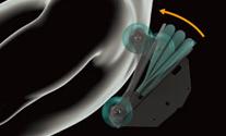 Механизъм 3D ролки за медицински масаж и въздушни възглавници