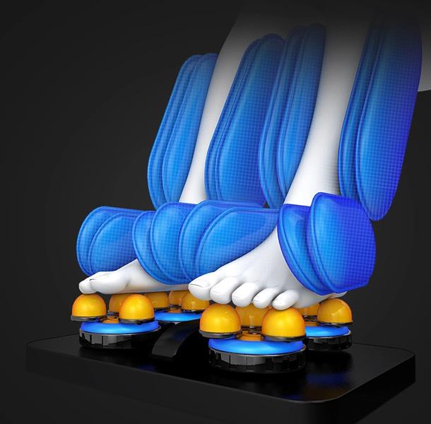 Оборудван с нагревателна система за гърба и краката. Плюс рефлексотерапия