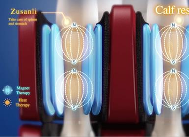 масаж чрез въздушно налягане за краката на стола Komoder Albert