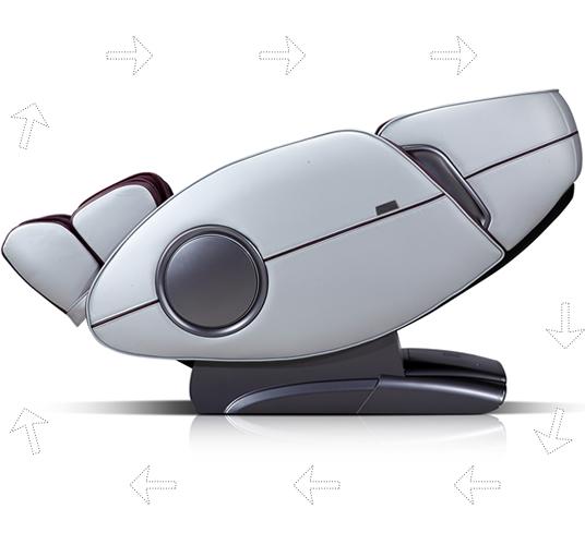 Столът се накланя максимално и ви предоставя релаксация Zero Gravity Komoder KM400L